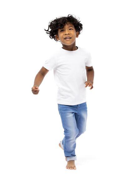 kinder skinny jog denim middenblauw 158 - 30735421 - HEMA