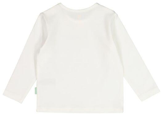 newborn t-shirt 'daddy' - biologisch katoen wit 74 - 33431035 - HEMA