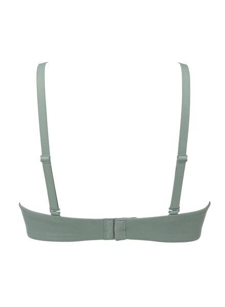 padded t-shirt bh zonder beugel micro extra soft groen groen - 1000011720 - HEMA