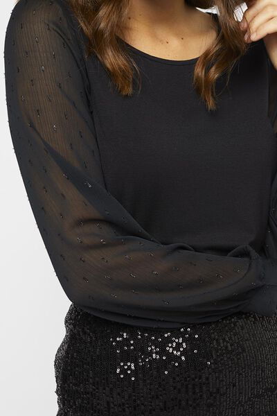 dames top zwart zwart - 1000021682 - HEMA