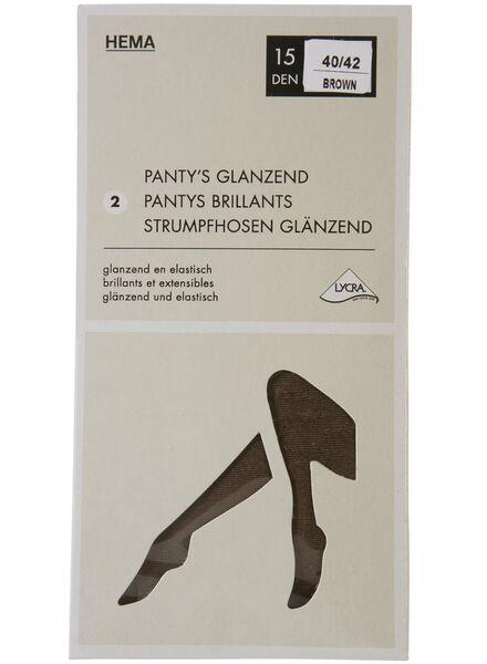 2-pak panty's 15 denier bruin bruin - 1000001158 - HEMA