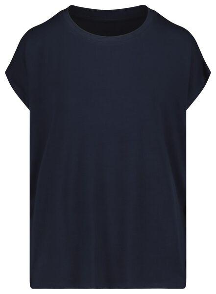 dames t-shirt donkerblauw donkerblauw - 1000018444 - HEMA