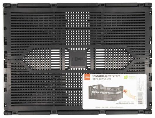 klapkrat letterbord recycled 30x40x17 - zwart - 39821037 - HEMA