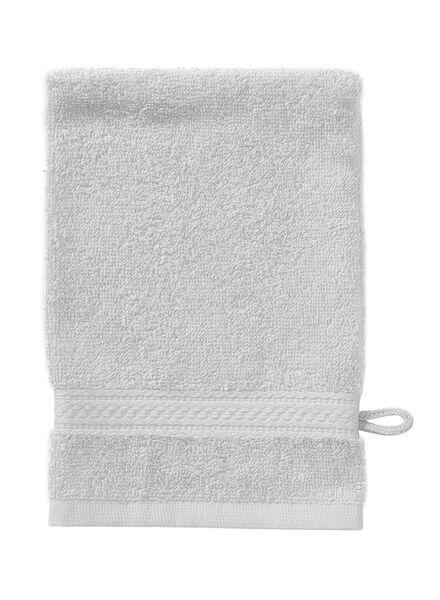 washand - zware kwaliteit - lichtgrijs uni lichtgrijs washandje - 5240207 - HEMA