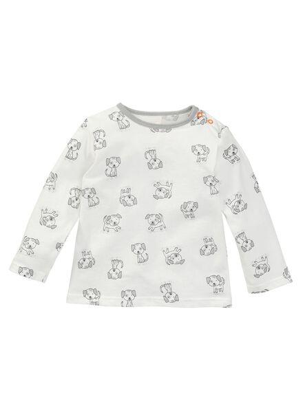 baby jongens pyjama wit wit - 1000005010 - HEMA