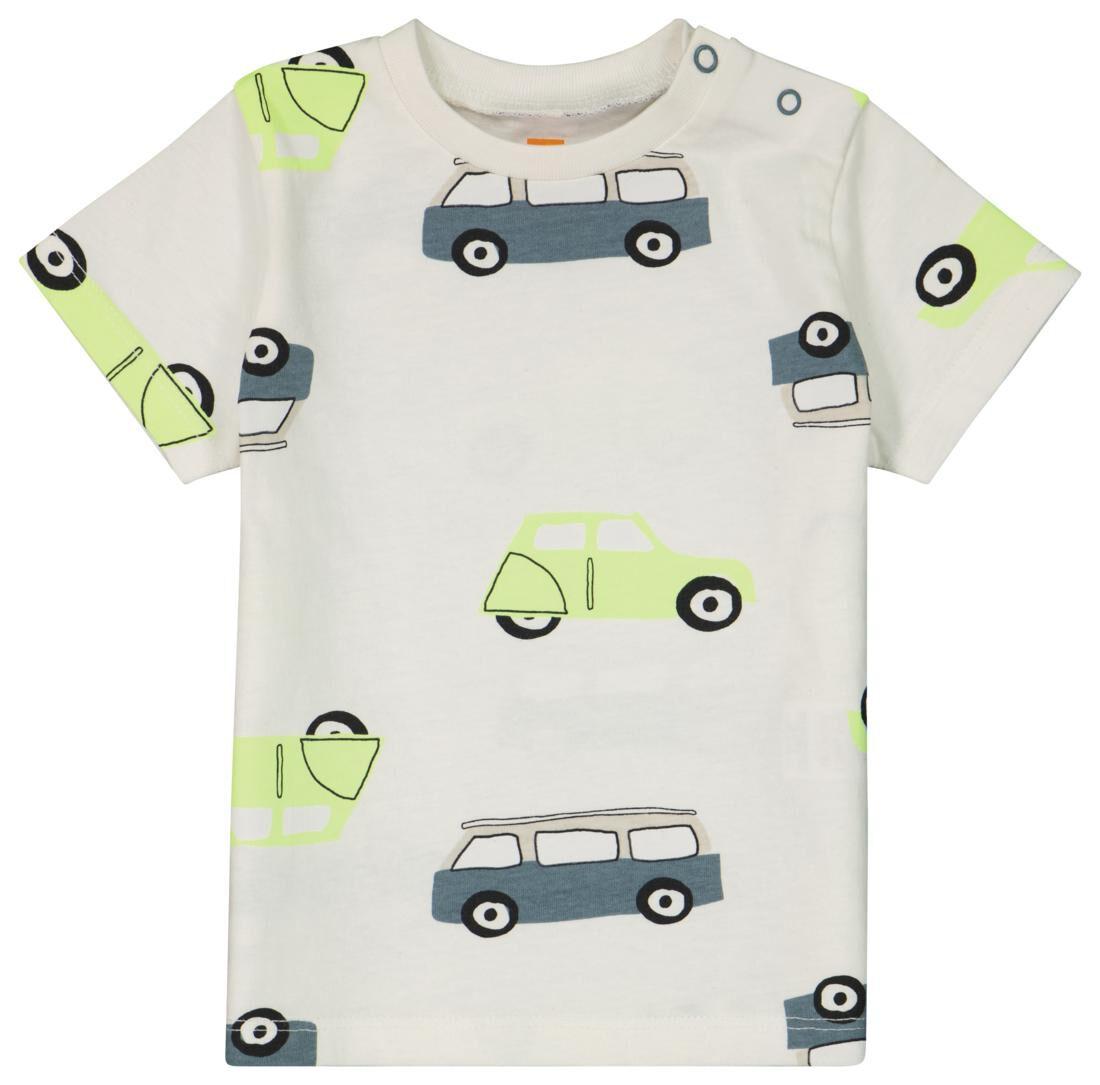 HEMA Baby T-shirt Bussen Gebroken Wit (gebroken wit)