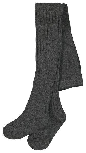 kindermaillot rib grijsmelange 98/104 - 4306523 - HEMA