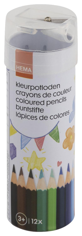 HEMA Kleurpotloden Met Puntenslijper - 12 Stuks