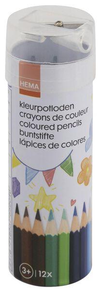 kleurpotloden met puntenslijper - 12 stuks - 15902002 - HEMA
