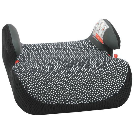 auto opzetzitje 15-36kg zwart/witte stip - 41700009 - HEMA