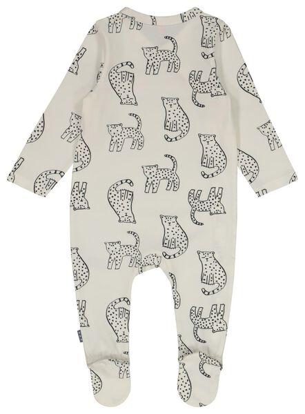 newborn jumpsuit overslag gebroken wit 68 - 33411214 - HEMA