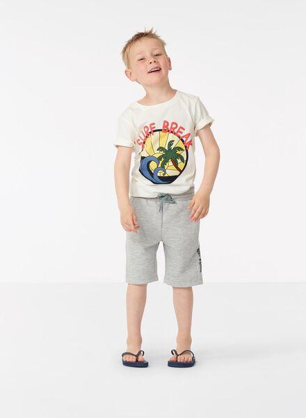 kindersweatshort grijsmelange grijsmelange - 1000013856 - HEMA