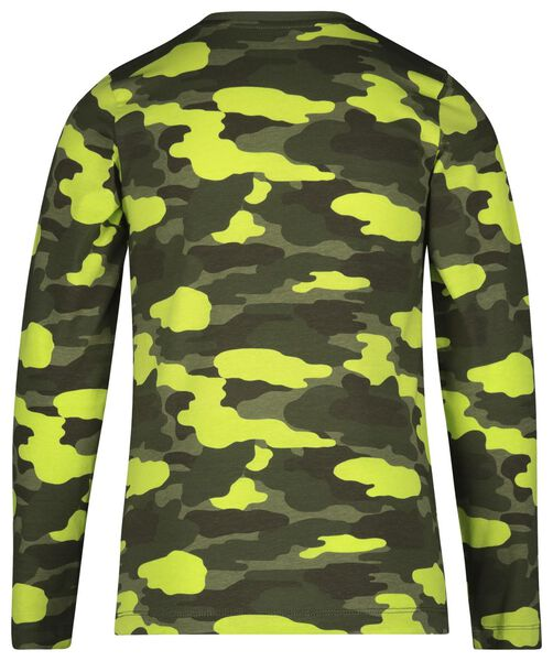 kinderpyjama camouflage groen groen - 1000022777 - HEMA