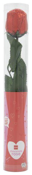 melkchocolade roos in koker -18 gram - 10050045 - HEMA