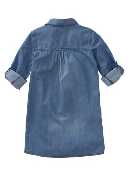 kinderjurk blauw blauw - 1000011391 - HEMA