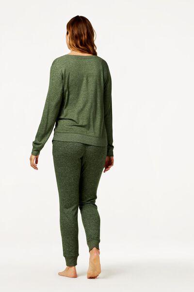 dames pyjamabroek sweat groen XL - 23419104 - HEMA