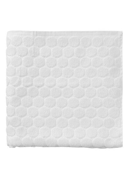 handdoek - 70 x 140 cm - zware kwaliteit - wit gestipt - 5240171 - HEMA