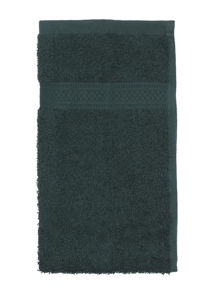 4 stuks. Gastendoekje handdoek - zware kwaliteit - donkergroen
