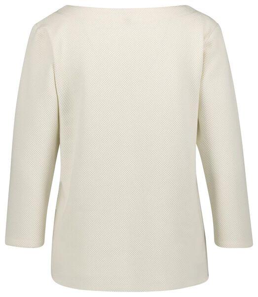 dames t-shirt structuur - 36289660 - HEMA