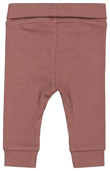 newbornbroek rib met bamboe roze roze - 1000022014 - HEMA