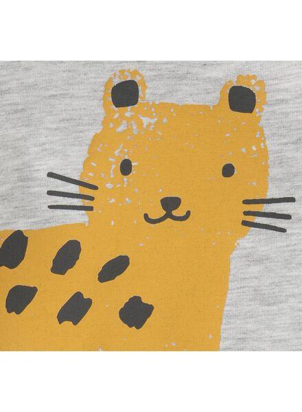 newborn jumpsuit luipaard grijsmelange grijsmelange - 1000013438 - HEMA