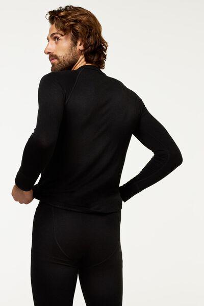 heren thermo t-shirt zwart M - 19108811 - HEMA