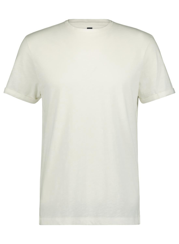 HEMA Heren T-shirt Slub Wit (wit)