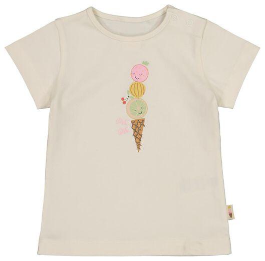 baby t-shirt ijsje gebroken wit gebroken wit - 1000017781 - HEMA
