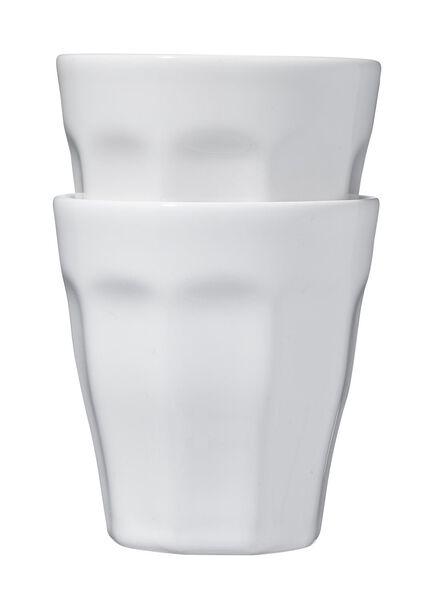 mokken - 250 ml - Mirabeau - wit - 2 stuks - 9612120 - HEMA