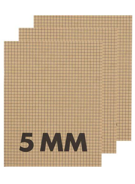 3-pak schriften A5 geruit 5 mm - 14170056 - HEMA