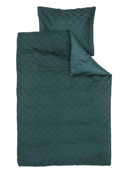 dekbedovertrek - hotel katoen satijn - 140 x 200 cm - groen stip - 5710047 - HEMA