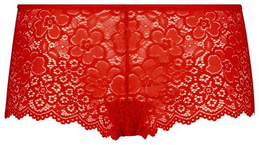 damesboxer kant rood rood - 1000019753 - HEMA