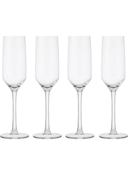 4-pak champagneglazen - 9401013 - HEMA