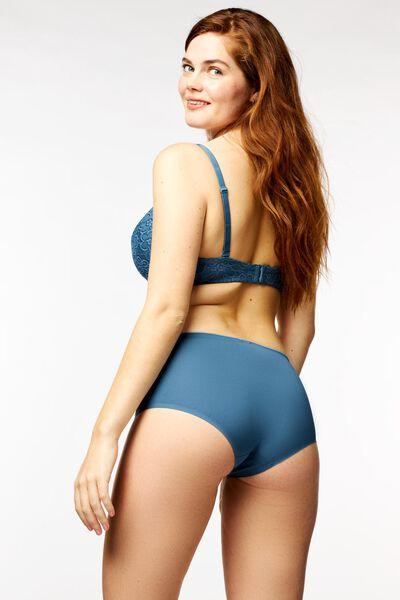 damesboxer second skin micro middenblauw middenblauw - 1000022644 - HEMA