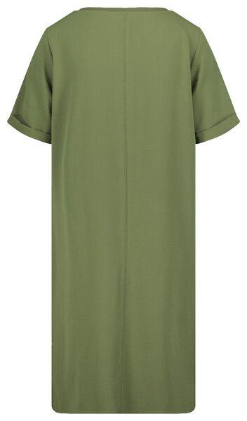 damesjurk olijf olijf - 1000019287 - HEMA