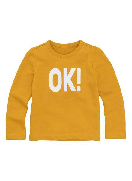 kindersweater okergeel okergeel - 1000011315 - HEMA