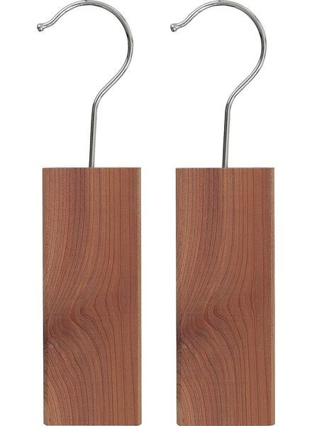 2-pak cederhouten hangers - 39807151 - HEMA