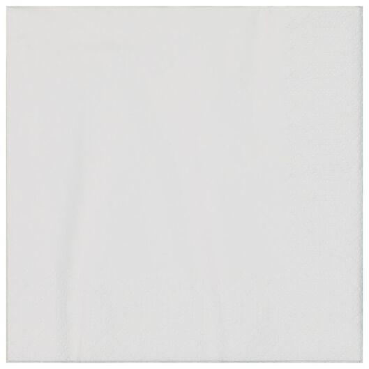 servetten - 33 x 33 - papier - wit - 20 stuks - 14210173 - HEMA