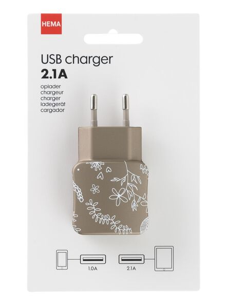 USB-oplader 2.1A - 39610052 - HEMA
