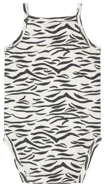 romper organic katoen stretch zebra zwart/wit zwart/wit - 1000022892 - HEMA