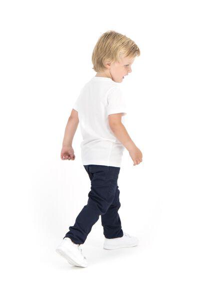 2 pak kinder t-shirts - biologisch katoen wit 122/128 - 30729413 - HEMA