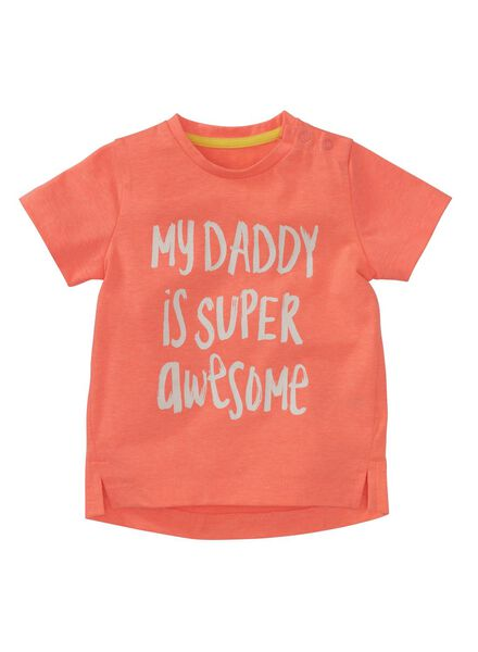 baby t-shirt oranje oranje - 1000007671 - HEMA