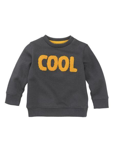 babysweater donkergrijs donkergrijs - 1000011240 - HEMA
