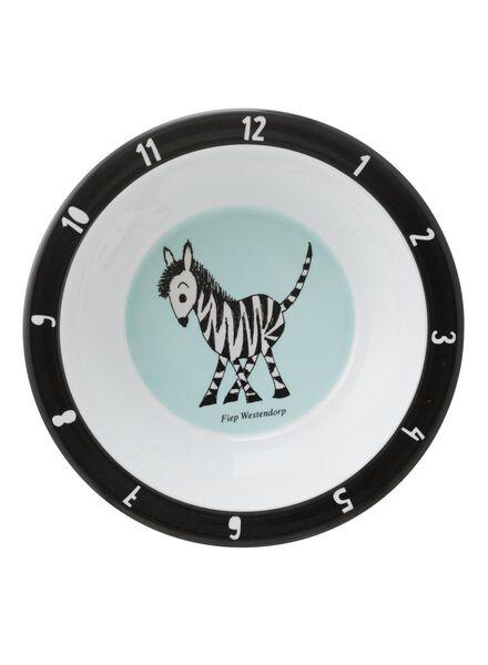 schaaltje - 16 cm - melamine - Jip & Janneke zebra - 80630518 - HEMA