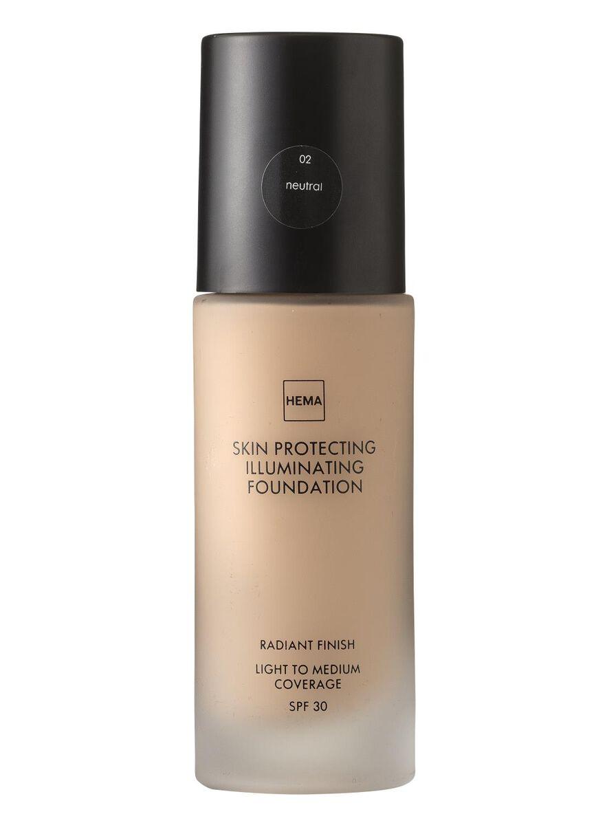 skin protecting illuminating foundation