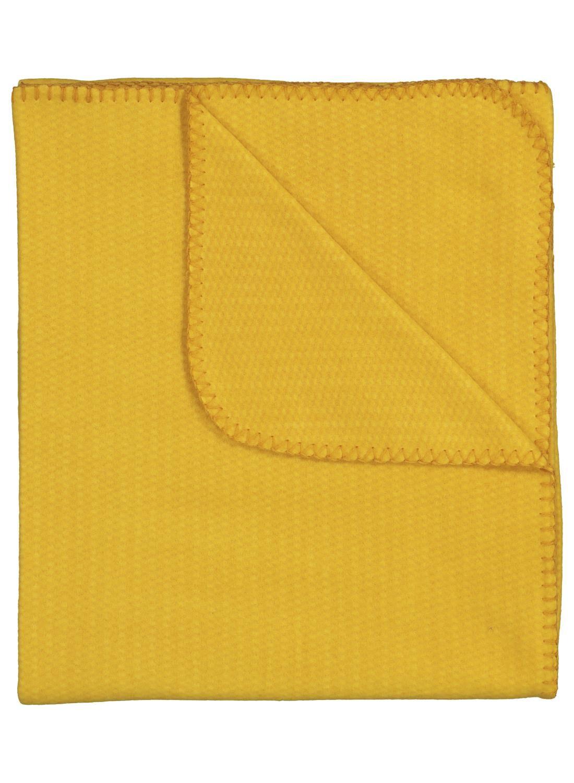 HEMA Fleece Plaid – 130 X 150 – Okergeel (geel)