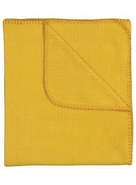 fleece plaid - 130 x 150 - okergeel - 7392000 - HEMA