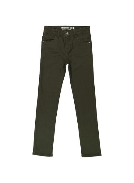 kinderbroek skinny donkergroen donkergroen - 1000014284 - HEMA