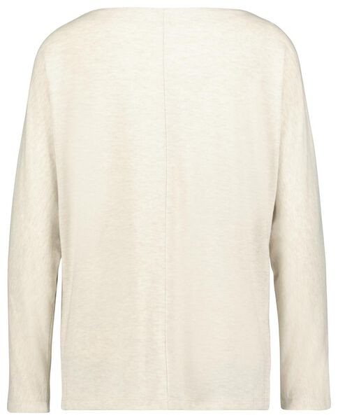 dames t-shirt boothals beige XL - 36228349 - HEMA