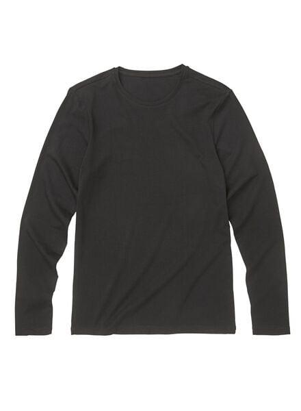 heren t-shirt slim fit zwart zwart - 1000009854 - HEMA